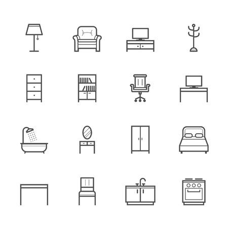 Icônes de meubles Banque d'images - 36354342