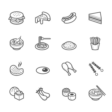 Popular Food Icons Vector