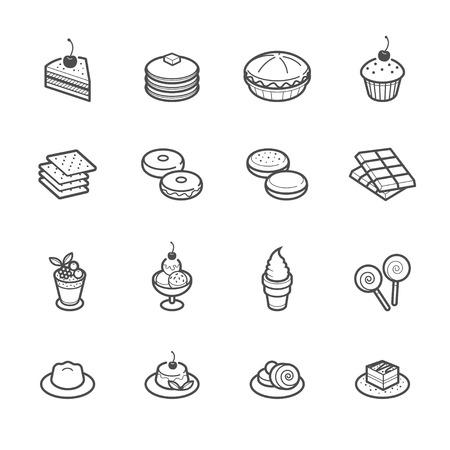 Dessert Pictogrammen