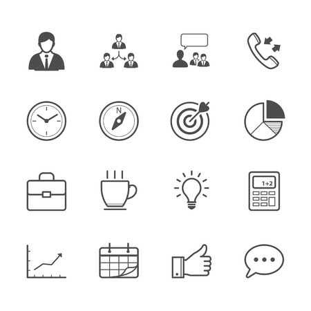 bulb light: Business and Finance Icons Illustration