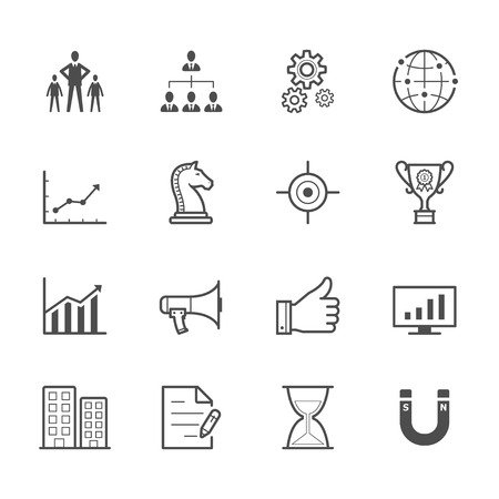 bar magnet: Business and Finance Icons Illustration