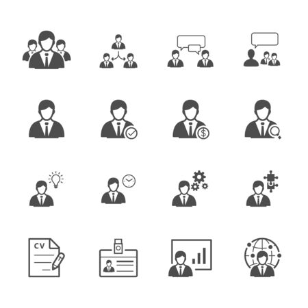 presentation people: Management and Human Resource Icons