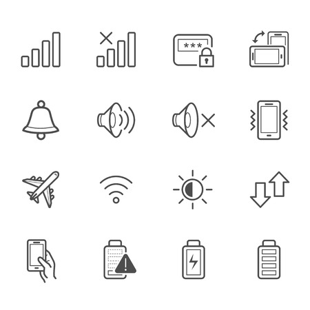mobile operators: Notification Icons for Mobile Phone and Application