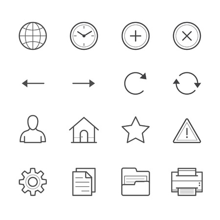 social history: Toolbar Icons for Application and website