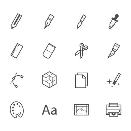 Graphic Design Icons Vettoriali