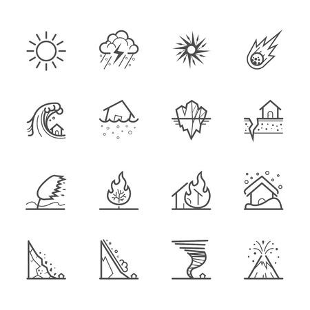 Icônes de catastrophe naturelle Banque d'images - 36353702
