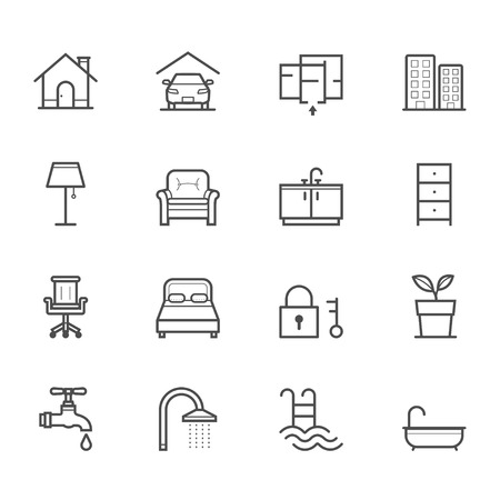 hotel icon: House and Real Estate Icons