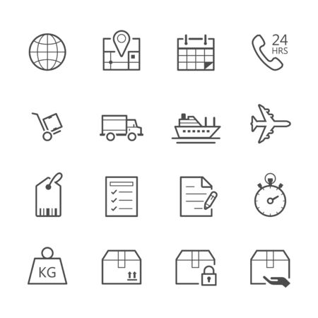 hrs: Shipping and Logistics Icons