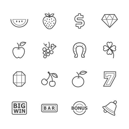apple computer: Slot Machine Icons