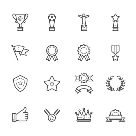 medal like: Trophy, Prize and Awards Icons Illustration