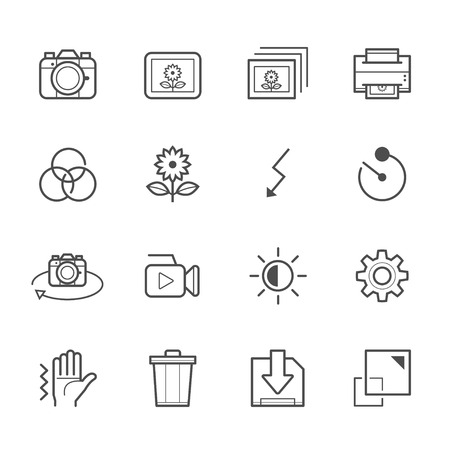 function: Photography and Camera Function Icons