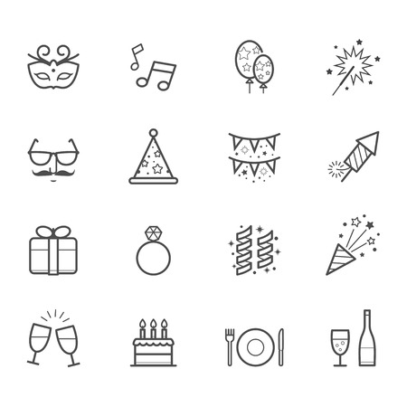 Celebration Icons and Party Icons Ilustração
