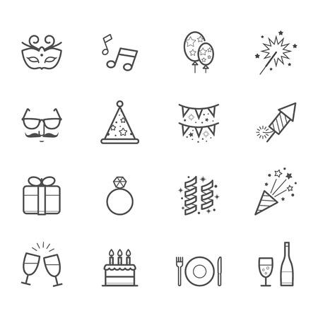 Viering Iconen en pictogrammen van de partij