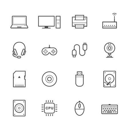 Computer en computer accessoires Pictogrammen