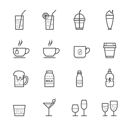 spirituous: Drink icons and Beverages Icons