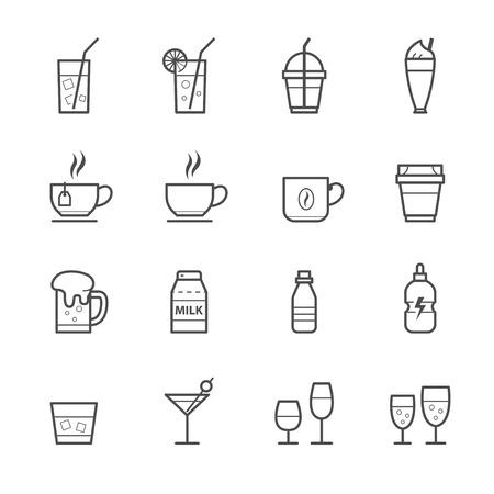 Drinken pictogrammen en Dranken Pictogrammen