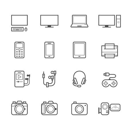Elektronische apparaten Pictogrammen
