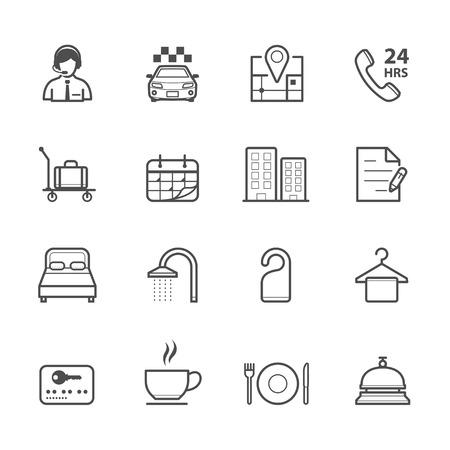 hotel icon: Hotel and Hotel Amenities Services Icons
