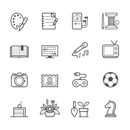 taking notes: Hobbies Icons Illustration