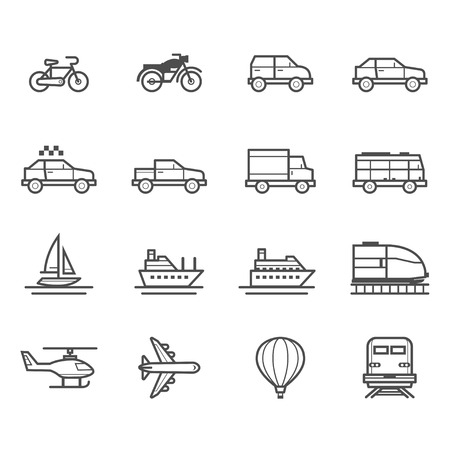 airplane icon: Transportation and Vehicles Icons Illustration