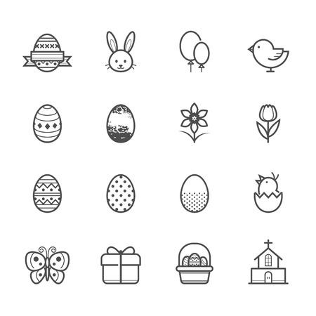 Easter icons Vettoriali