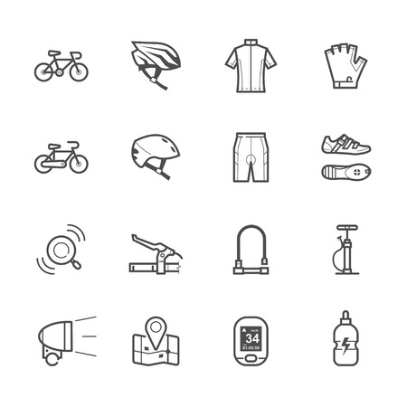Bicycle pictogrammen en Biking pictogrammen