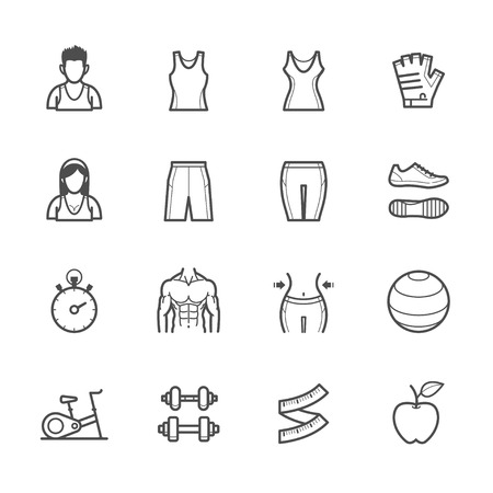 Fitness Icons 矢量图像