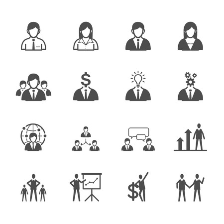 Business man Icons Vettoriali