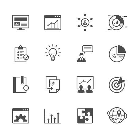 검색 엔진 최적화 및 개발 아이콘 일러스트