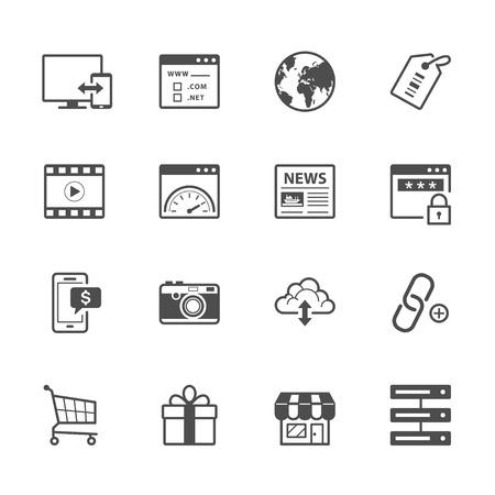 SEO e Internet Iconos