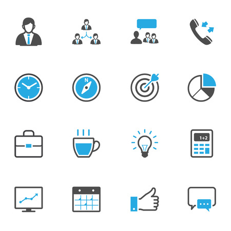 line up: Business and Finance Icons Illustration
