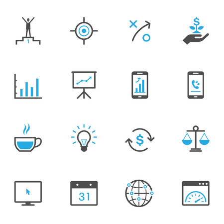 business website: Business and Finance Icons Illustration