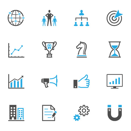 global communication: Business and Finance Icons Illustration