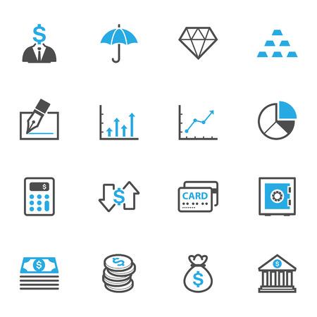 Affaires et des finances Icônes Banque d'images - 45915042