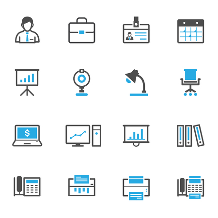 Business and Office Icons Banco de Imagens - 45884847