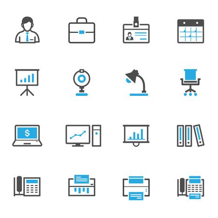 hombres ejecutivos: Negocio e iconos de Office