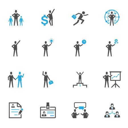 Management en Human Resource Icons Stock Illustratie