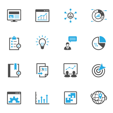 contact icon set: SEO and Development Icons