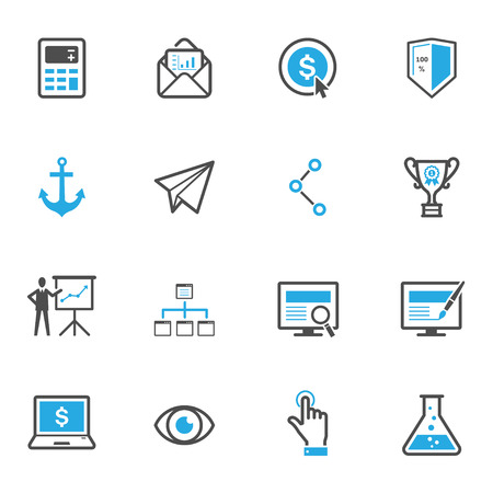 computer screen: SEO and Internet Icons