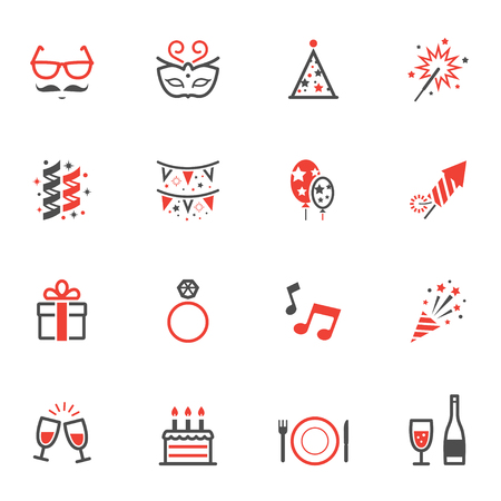 celebration party: Celebration Icons and Party Icons Illustration