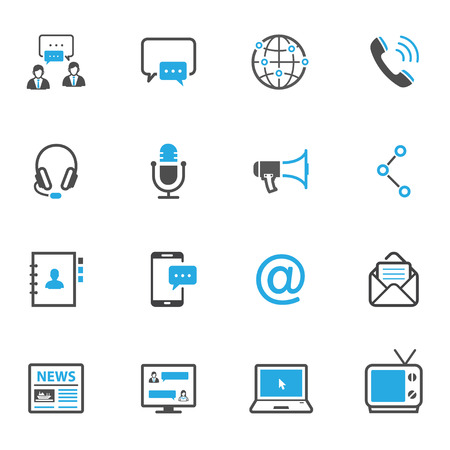 Communication Icons. Stock Photo