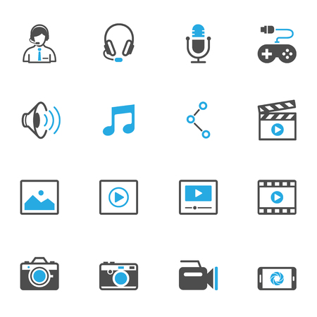 multimedia: Multimedia Icons Illustration