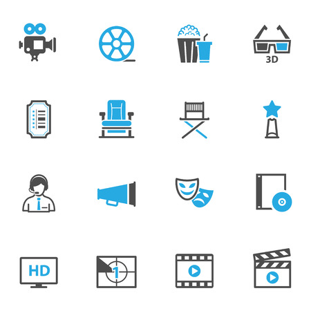 Movie Icons Иллюстрация