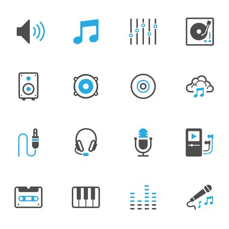 Muziek pictogrammen Stock Illustratie