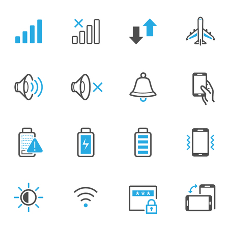 mobile phone screen: Mobile Phone Icons