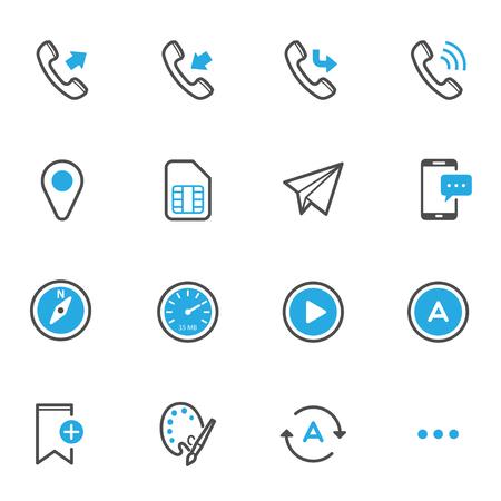 Mobiele Telefoon Iconen Stock Illustratie
