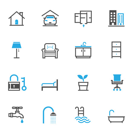 hotel icons: House and Real Estate Icons
