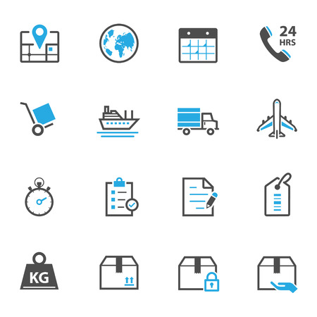internet phone: Shipping and Logistics Icons