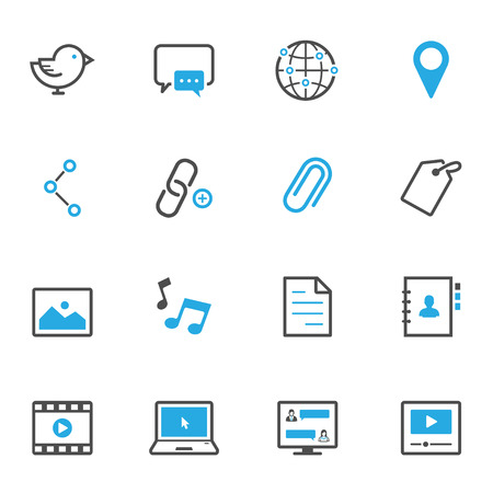Social Media Icons Illustration