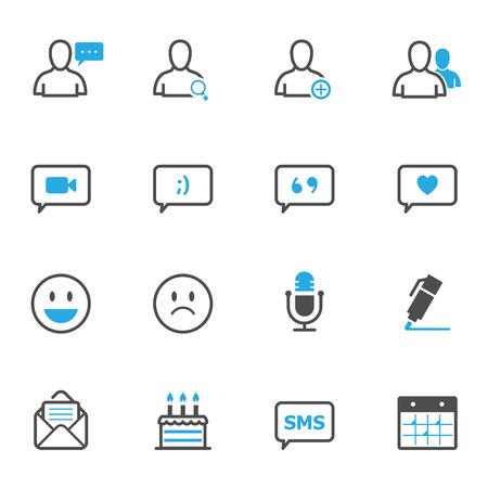 web icons: Social Media Icons Illustration